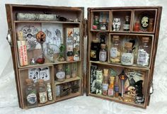 apothecary shadow box book (inside) - Artfully Musing - by laura carson (image 2 of 2).