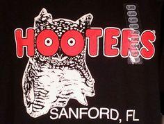 NWT HOOTERS T Shirt Sanford FL Sz XL Florida Owl Souvenir Delightfully Tacky #HootersOwl #SanfordFlorida