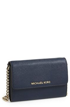 MICHAEL Michael Kors 'Large Jet Set' Saffiano Leather Crossbody Bag available at #Nordstrom