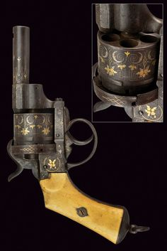 A nice pin-fire revolver:    provenance: France dating: third quarter of the 19th Century