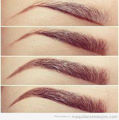 Tutorial paso a paso, maquillar ceja para alargarla