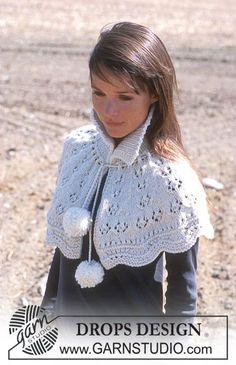 DROPS Short shawl in Alaska Free pattern by DROPS Design.