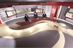 tv set studio design - Google 搜尋                                                                                                                                                      More