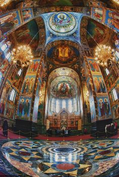 Incredible colours and detail inside the Church on Spilled Blood - St Petersburg, Russia