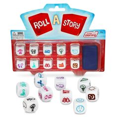 Junior Learning Roll a Story Develop Story Telling and Oral Language Dice * Learn more by visiting the image link. (This is an affiliate link) Story Dice, Roll A Story, Story Cubes, Dice Games, Oriental Trading, Creative Writing, School Supplies, Like4like, Rolls
