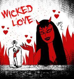 Wicked Love by Van Burmann #love #valentine #horror