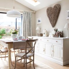 House tour: vintage styling and clever decorating ideas have helped to create a new-build that is filled with country cottage charm Country Chic Cottage, Country Style Homes, Country Decor, Cottage Style, Country Cottages, Country Kitchen, Home Depot, Brown Armchair, Cambridge House