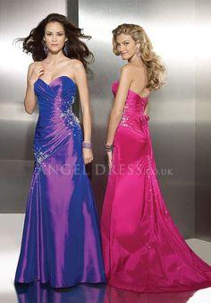 Taffeta A line Sweetheart Asymmetric Waist Floor Length Sleeveless Evening Dress