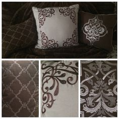 Crystaled decoration pillows