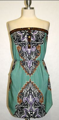 PLACEMENT TUBE PLACKET DRESS MINT $72- CALL SPLASH TO ORDER 314-721-6442