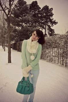 Winter pastels. mint and blue.
