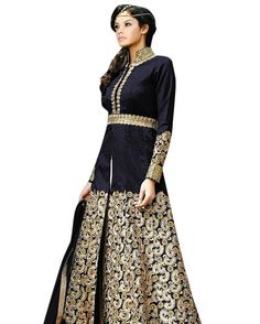 Vibes Women's Pure Banglori Silk Anarkali Style Unstiched Dress Material Product Price:Rs.1 899.00 INR And For You Our Deal Price:999.00