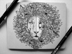 Lion tattoo, this would be awesome. So much detail.