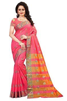 900d572c9a Ecolors Fab Women's Tussar Silk Saree Kanchipuram Style (Latest Designer  Sarees /Party wear sarees /New collection sarees)_(72_DENI) (Pink