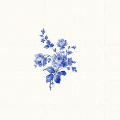 Pretty blue flower tattoo design