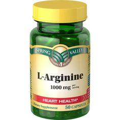 Walmart: Spring Valley L-Arginine Dietary Supplement 1000mg per serving, 50ct