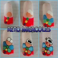 Unas Nail Art Designs Videos, Nail Designs, Hello Nails, Butterfly Nail Art, Nails For Kids, Flower Nails, Nail Tutorials, Cool Nail Art, Nail Manicure