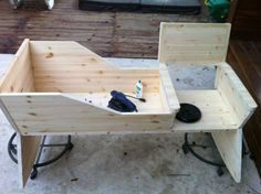DIY Rocking Chair with Crib in One