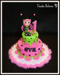 RJ first bday? Ladybug Girl, Ladybug Party, 2 Tier Cake, Tiered Cakes, San Antonio, 1st Birthday Cakes, Birthday Ideas, Ladybug Cakes, Purple Cakes