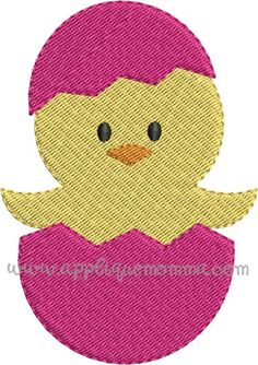 Easter Egg Chick Mini Embroidery Design