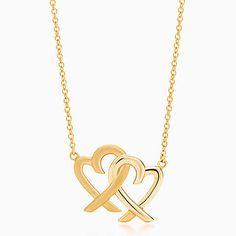 Paloma Picasso® Loving Heart interlocking pendant in 18k gold.