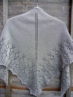 Worked from the top down, this triangular shawl is inspired by the Firefly episode, 'Out of Gas'.