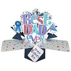 Get a card that stands out from the rest with our high quality Pop-Up Fathers Day Cards. This Best Dad Father's Day Card uses paper engineering to create its unique design. Funny Fathers Day, Fathers Day Cards, Happy Fathers Day, 3d Cards, Pop Up Cards, Nature 3d, Paper Engineering, Bubble Envelopes, Best Dad
