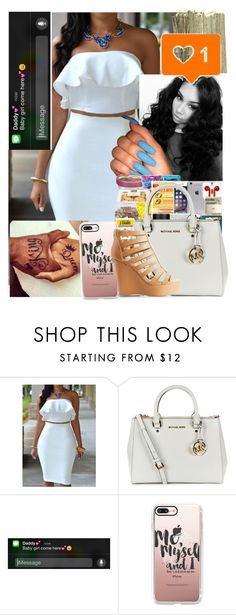 """""""💕"""" by brandylovebrandy ❤ liked on Polyvore featuring MICHAEL Michael Kors, SEN, Casetify and Charlotte Russe"""
