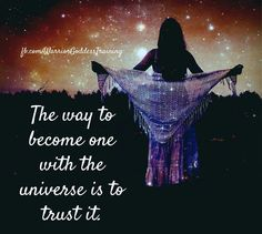 The way we become one with the Universe is to trust it ⊰❁⊱