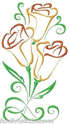 Original Fall Outline Machine Embroidery Designs on multi-formatted CD