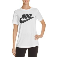 Nike Swoosh Essential Tee ($40) ❤ liked on Polyvore featuring tops, t- ·  Nike T ShirtsLogo T ShirtsBlack And White TeesNike ...