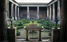 Peristyle garden, house of the Vettii, Pompeii