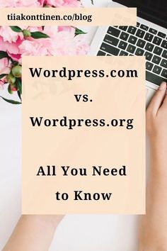 When creating a blog or a website for the first time, many perhaps think you need to download WordPress.org to your PC and connect it to the domain. The truth is, you don't have to download or connect anything. Read what to do instead: www.tiiakonttinen.co #wordpress #blogging #bluehost How To Create A Successful Blog, Creating A Blog, How To Start A Blog, Business Planning, Business Tips, Online Business, Make Money Blogging, How To Make Money, Wordpress Org