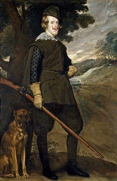 https://flic.kr/p/nKef3G   Philip IV in Hunting Dress   c. 1635. Oil on canvas. 189 x 124 cm. Museo Nacional del Prado, Madrid. P01184.