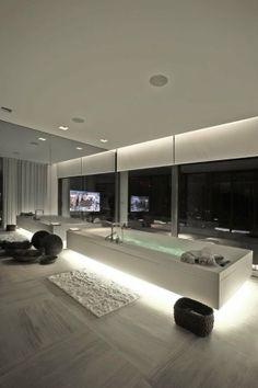 Modern Home, Minimalistic, Futuristic Interior, Future Home, Futuristic  Bathroom, Tv,