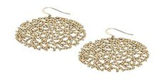 Filigree Pave Hanging Earrings by Roni Blanshay -- Awesome products selected by Anna Churchill