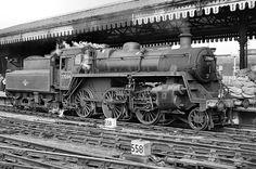 BR standard class 3  2-6-0 Steam Trains Uk, Old Steam Train, Vintage Trains, Old Trains, Diesel Locomotive, Steam Locomotive, Steam Railway, Train Times, Train Art
