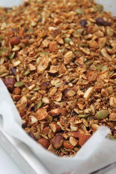 Hemmagjord Granola Granola Bars, Muesli, Foodies, Nom Nom, Brunch, Beans, Food And Drink, Snacks, Vegetables