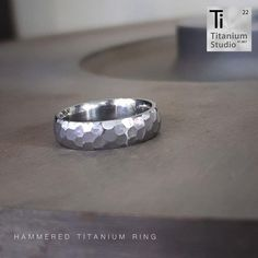 Titanium base ring with all facets hand engraved into the ring. Rustic Jewelry, Titanium Rings, Hand Engraving, Jewelry Collection, Wedding Bands, Rings For Men, Base, Engagement Rings, Enagement Rings