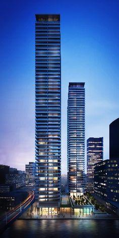 Canary Wharf Towers, Arrowhead Quay, London by Glenn Howells Architects