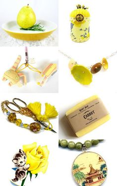 Golden Lemon Yellow Gift List by Faye on Etsy--Pinned with TreasuryPin.com