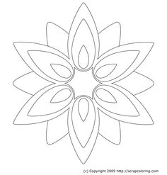 flower Page Printable Coloring Sheets | Flower Rose Window coloring page