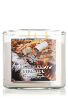 Marshmallow Fireside 14.5 oz. 3-Wick Candle - Slatkin & Co. - Bath & Body Works - Another one of my favorite smells