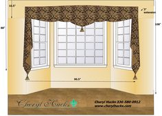 window treatment for dining room bay window
