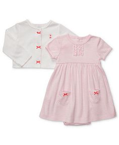 Carter's Baby Set, Baby Girls Two-Piece Striped Dress and Cardigan - Kids Baby Girl (0-24 months) - Macy's