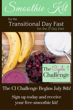 YAY! I'm so excited! The C1 17 Day Challenge begins July 8th! Sign up for the Challenge and receive a free smoothie kit! #17daydiet #c1challenge #17ddblog http://17ddblog.com/c1-challenge-2015/?tid=pin62715