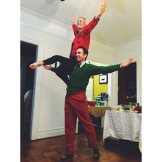 Just performing a little jingle bells pas de deux for the talent portion of a christmas party tonight! @tiesandfries