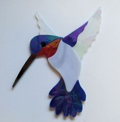 HUMMINGBIRD #11 Precut Stained Glass Art Kit Mosaic Inlay Garden Stone Tile . Many original designs selling on ebay.