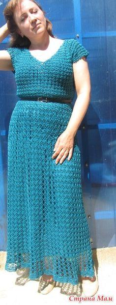 """. Платье """"Морская волна"""" - Все в ажуре... (вязание крючком) - Страна Мам"""