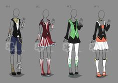 Some Outfit Adopts #19 - sold by Nahemii-san on DeviantArt